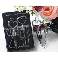 Wine Bottle Stopper and Opener Wedding Favors thumbnail image