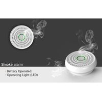 Anka AJ-718 Interconnected Wireless Battery-Powered Smoke and Fire Alarm with CE Listed