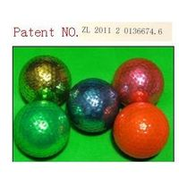 patent matallic golf ball