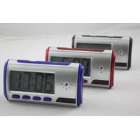 Alarm Clock Hidden Camera with Motion Detection 640x480 Taking Photos Recording Separate Audio Home