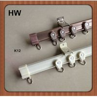 curtain rods ceiling mount aluminum sliding single and double window curtain track