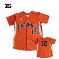 Custom High Quality Sublimated Baseball Uniform Baseball Jersey For Team Wear