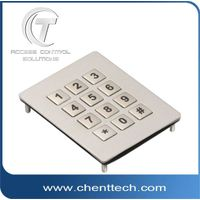 IP68 waterproof metal numeric matrix keypad with 12 keys