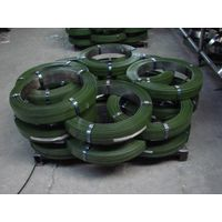 green  steel strapping