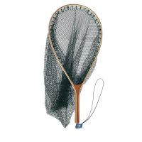 Wooden fly fishing tackle,Pe trout bass wooden fishing landing net