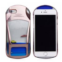 Liquid Mobile phone case for iPhone5/ 6/6 plus in car shape in 3 colors