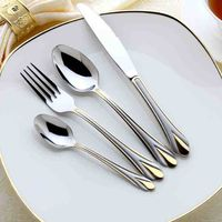 2016 new style 18/10 stainless steel hand polish tableware, high quality flatware, cutlery sets