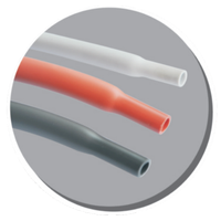Pure silicone heat shrinkable tubing