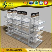 China suppliers slatwall display shop shelving for sale