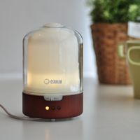 wood and glass ultrasonic aroma diffuser