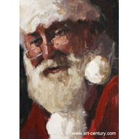 Christmas oil painting