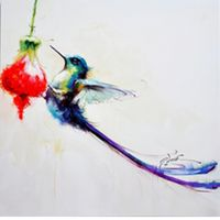 Hotselling Animal Wall Art Lovely Hummingbird Painting