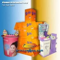 Advertising cardboard rotating display stand