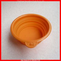 Fashional and non-toxic silicone protable pet bowls
