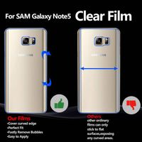 Premium guard Front and Back Bubble-Free mobile screen protector for Samsung Galaxy Note5