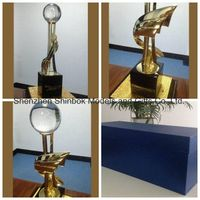 Metal Trophy with Crystal Ball thumbnail image