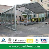 Clear marquee tent with glass system thumbnail image