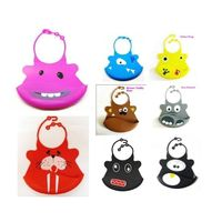 Infant Baby Silicone Kid Washable BB Bib Crumb Catcher Fun Characters Waterproof