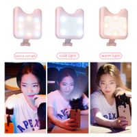 Apexel pink LED selfie fill light for mobile phone phontography