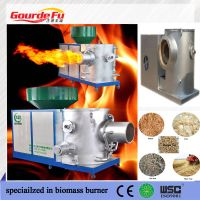industrial boiler connecting biomass burner