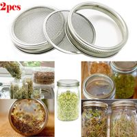 Stainless Steel Seed Sprouting Screen Sprouting Lids For Round Mouth Canning Jar