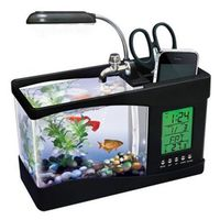 KangWei KW2010B desktop LED light calendar glass aquarium powerhead freshwater fish