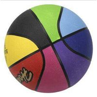 rainbow Rubber basketball