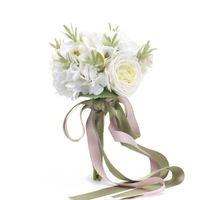 Darleenhome White Bride Bouquet