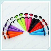 Hot selling acrylic fake ear tapers jewelry