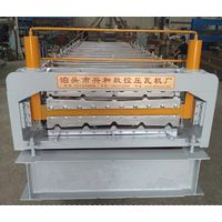 Automatic Roll Forming Machine Has Two Layers Aluminium Sheet Rolling Ceiling Tiles Making Machine