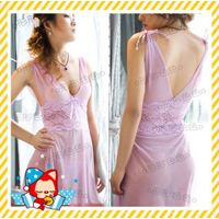 Sexy Ladies Lingerie G-String Thong Underwear Chemise Sheer Women Babydoll Dress thumbnail image