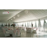 300 People Party Maquee with Luxury Roof Lining and Curtains for Sale