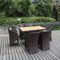 Hot-selling Spainish rattan Aluminum dining set cheap wicker bar set