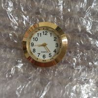 27.5mm gold metal arabic insert clock