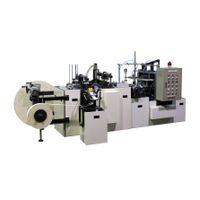 Paper cup making machine with handle