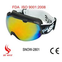 High quality professional anti-fog skiing goggle with CE,FDA certificate
