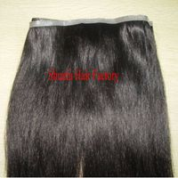 human hair skin weft with natural wave
