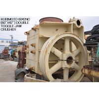 "USED ""KURIMOTO"" 6042NC (60"" X 42"") DOUBLE TOGGLE JAW CRUSHER S/NO. M80-864 thumbnail image"