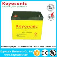 Long Life 12V 65AH Rechargeable VRLA Battery Solar Energy Battery