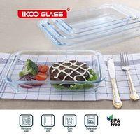 Oven safe borosilicate glass bakeware