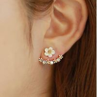 wholesale Fashion Gold plated CZ Micro Pave Diamond Stud Earrings for Women thumbnail image