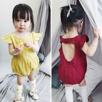 On sale baby romper cotton suitable kids girls jumpsuit
