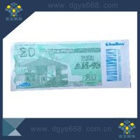 Custom cash coupon security voucher UV invisible printing with barcode