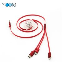 Telescopic Type 3 in 1 USB Charging + Data Cable thumbnail image