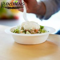 Disposable Biodegradable Sugarcane Bagasse Pulp Paper Bowl with Round Bottom for Food thumbnail image