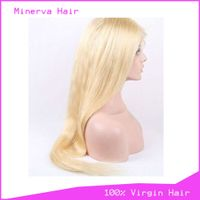 Wholesale Human Hair lace wigs 613# straight