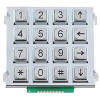 4X4 matrix zinc alloy vending machine and telephone keypad