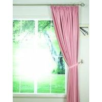 Swan Pink and Red Solid Pencil Pleat Ready Made Curtains
