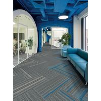 25x100 cm soundproof office High quality color striped carpet tiles