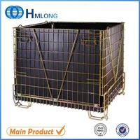 China rigid foldable industrial metal cage storage container